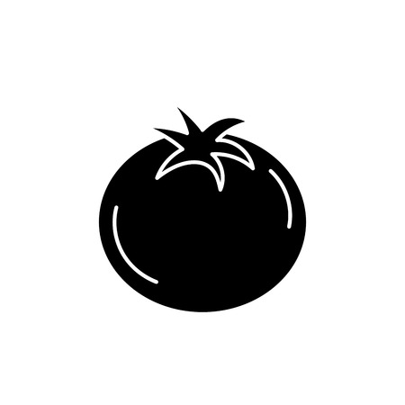 cultivate: contour delicious and health tomato vegetable vector illustration