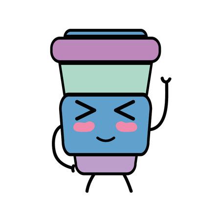 personage: cute  bottle  vector illustration Illustration