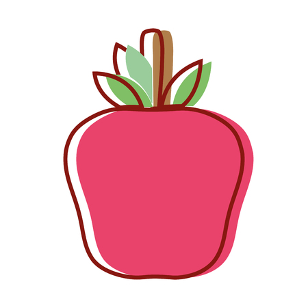 delicious apple fruit to healthy life vector illustration