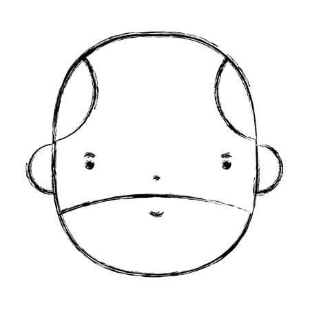 personage: figure nice businessman face avatar