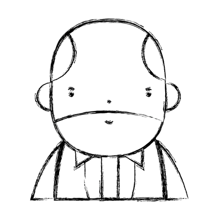 personage: figure nice businessman with elegant clothes avatar Illustration