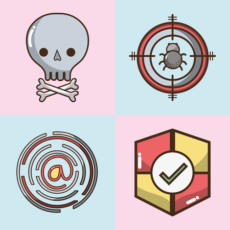 smartphone apps: set technology elements with apps icons vector illustration