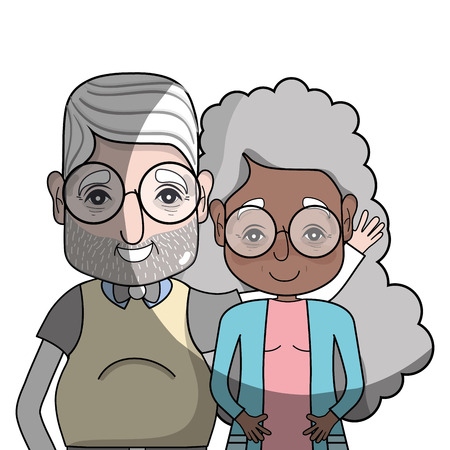 granddad: old couple people with glasses and hairstyle