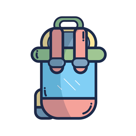 haversack: backpack to go to exploration of vacation