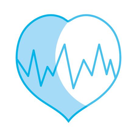 systole: silhouette medical heartbeat to cardiac rhythm