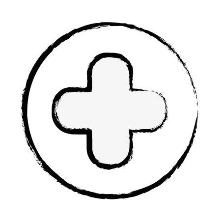 urgency: figure cross clinic symbol to healthcare people