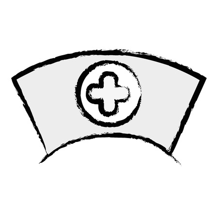 nurse hat: figure nurse hat element that used in the hospital