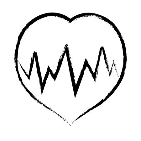 systole: figure medical heartbeat to cardiac rhythm