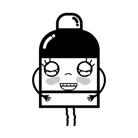 personage: contour kawaii cute happy ointment pharmaceutical medicine Illustration