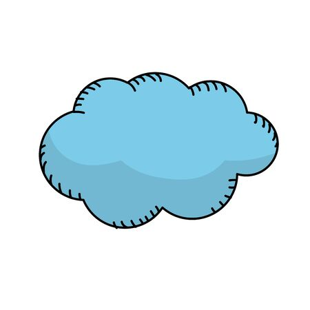 windy day: natural cloud and cloudy weather Illustration