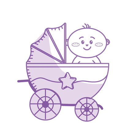 silhouette security stroller with baby child inside