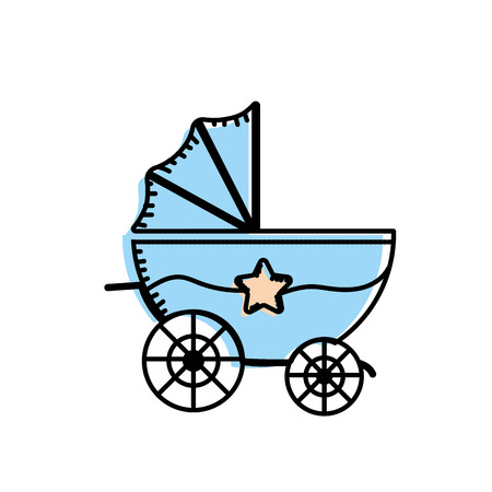 Baby stroller that used to transportation Illustration