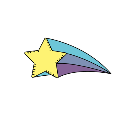 shiny star art design icon Çizim