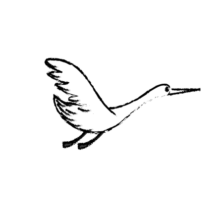beak: figure beauty stork animal with wings