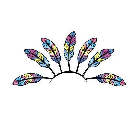 beauty diadem of feathers design decoration Illustration