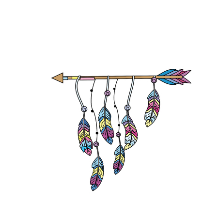 nice arrow with feather design decoration