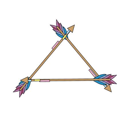 cute arrows element with ornamental design