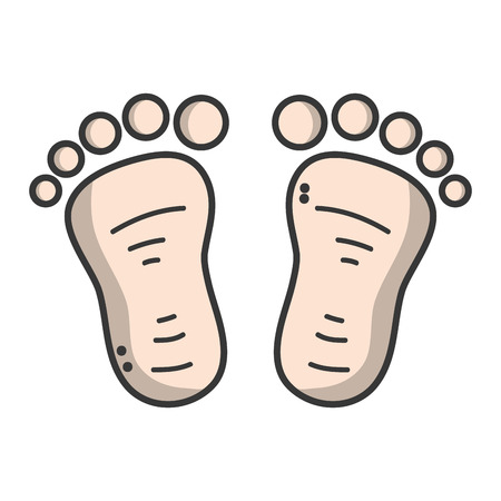shoeprint: beauty baby footprint design icon
