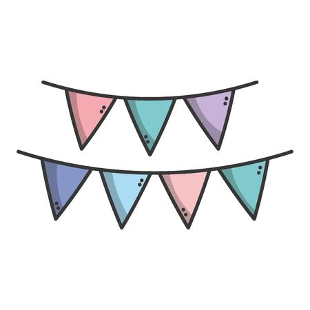 symbolics: flag party to decoration design Illustration