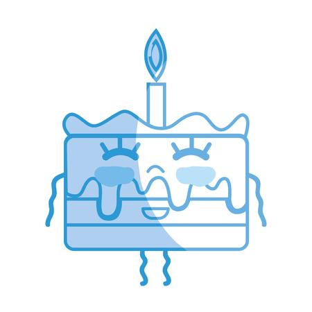 personage: silhouette kawaii cute happy cake dessert Illustration