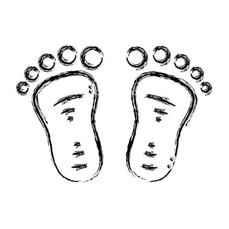 shoeprint: figure beauty baby footprint design icon vector illustration Illustration