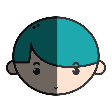 playtime: child boy face with hairstyle design Illustration