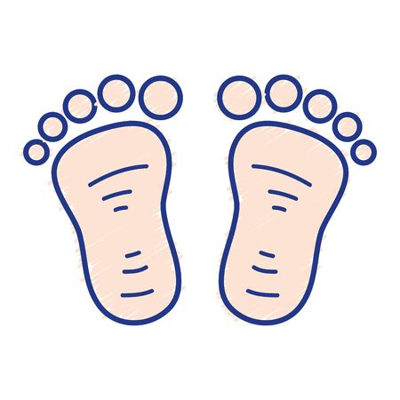 Beauty baby footprint design icon