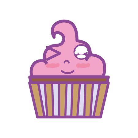 cute funny muffin dessert