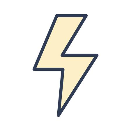 Gevaarlijke energiegevaar symbool voor veiligheidsindustrie vector illustratie.