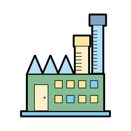 産業工場の汚染環境と生態学のベクトル図