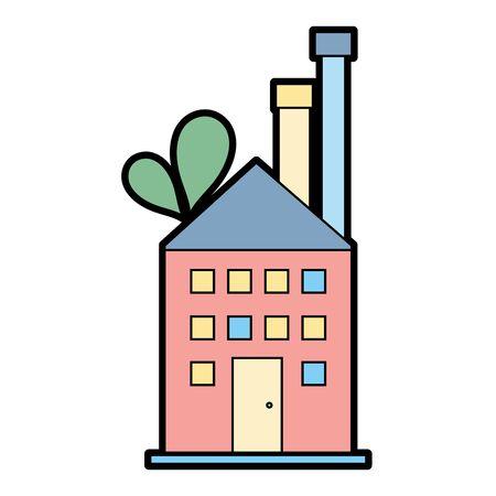 工場の汚染環境と生態学のベクトル図に。
