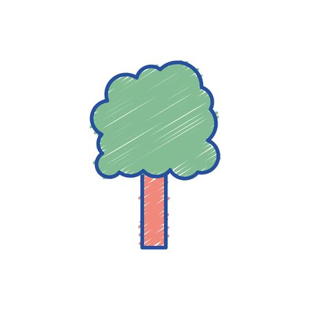 ecology tree to environment care icon vector illustration Illustration