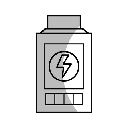 rechargeable: line technology battery power with energy hazard symbol