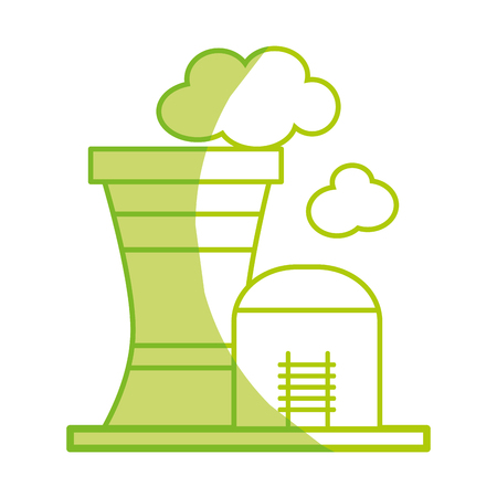 silhouette industrial factory to contamination of environment and ecology