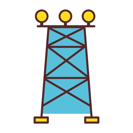 tower energy technology and industrial electric vector illustration Illustration