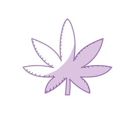 narcotic: silhouette marijuana plant with leaves and medical herb