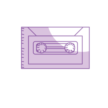 cd recorder: silhouette retro cassete to listen kind music
