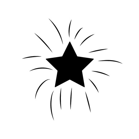 contour shiny star in the sky art