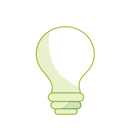 A silhouette electricity bulb innovation to illuminated of cities vector illustration.