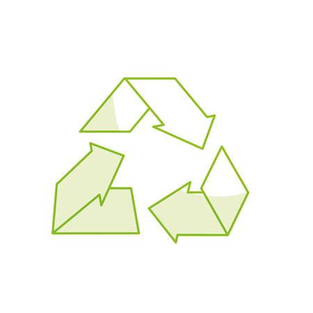 Line environment care symbol to protection of nature of planet vector illustration.