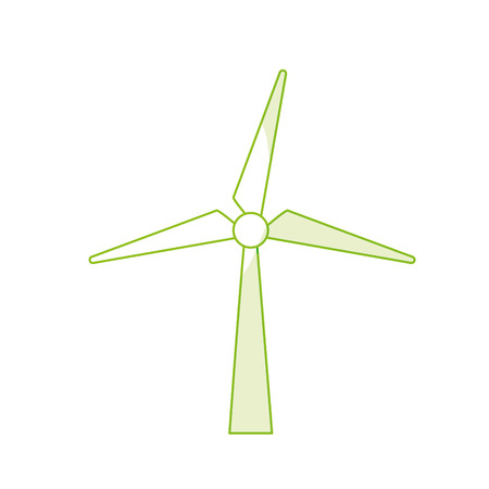 A silhouette wind power technology to environment protection vector illustration.