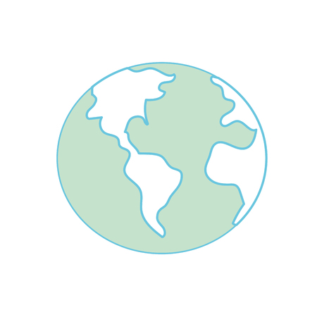 A global earth planet with geography ubication vector illustration. Illustration