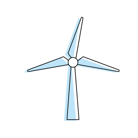 windpower: windpower technology to environment protection Illustration