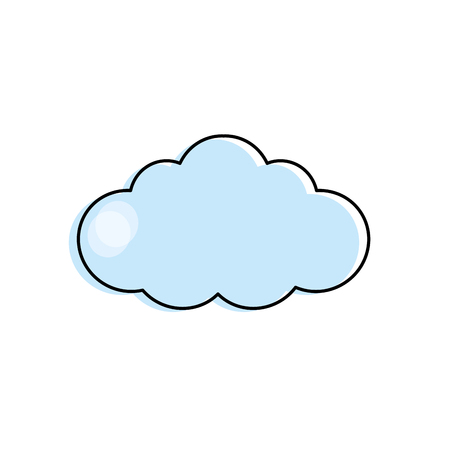 windy day: natural cloud design to fresh weather Illustration
