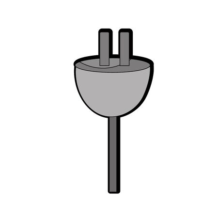 electric power cable to voltage connection Illustration