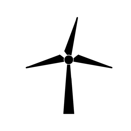 A contour windpower technology to environment protection vector illustration. Иллюстрация