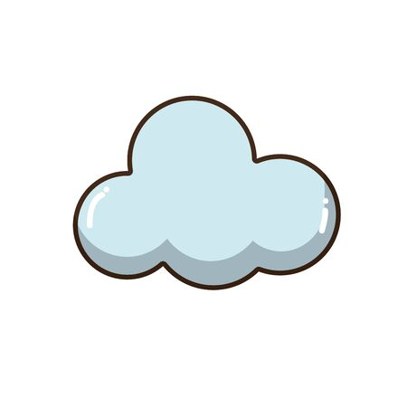windy day: cloud natural design and nice weather Illustration