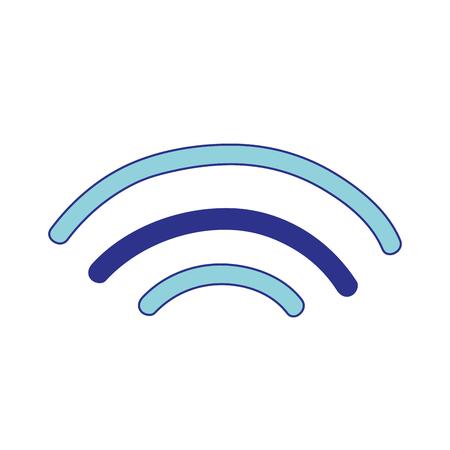 wifi digital symbol to digital information Illustration