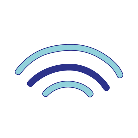 wireless signal: wifi digital symbol to digital information Illustration