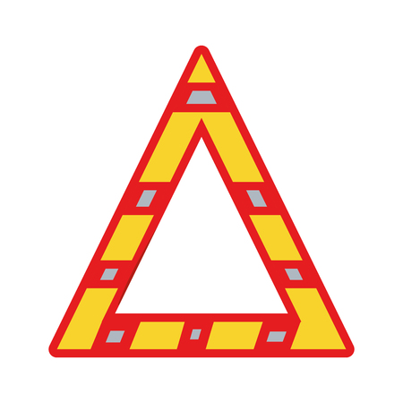 dangerously: triangle attention symbol to security precuation Illustration